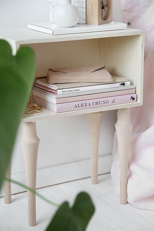 DIY bedside table from trendenser.se #panduro #diy #bedroom #scandinavian