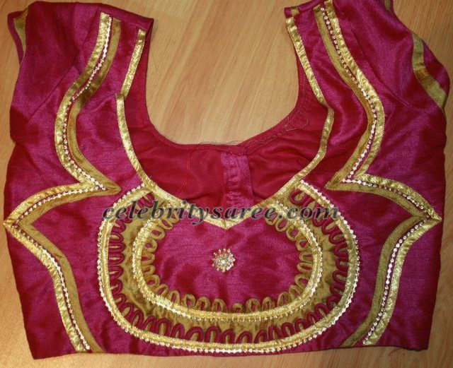 Saree Blouse Designs in Raw Silk | Saree Blouse Patterns