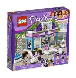 LEGO Friends Butterfly Beauty Shop 3187 by LEGO. $44.94. Accessories include a money bill, hair elements, lipsticks, a purse, bows, sunglasses, a hairdryer, hairbrush and a mirror. Collect all of the Lego Friends sets for a whole world of Lego Friends fun. Lego Friends pieces are fully compatible with all Lego System bricks. Includes Emma and Sarah mini-doll figures and features fountain, bench and salon furniture. Give all of the Lego Friends makeovers, gather by ...