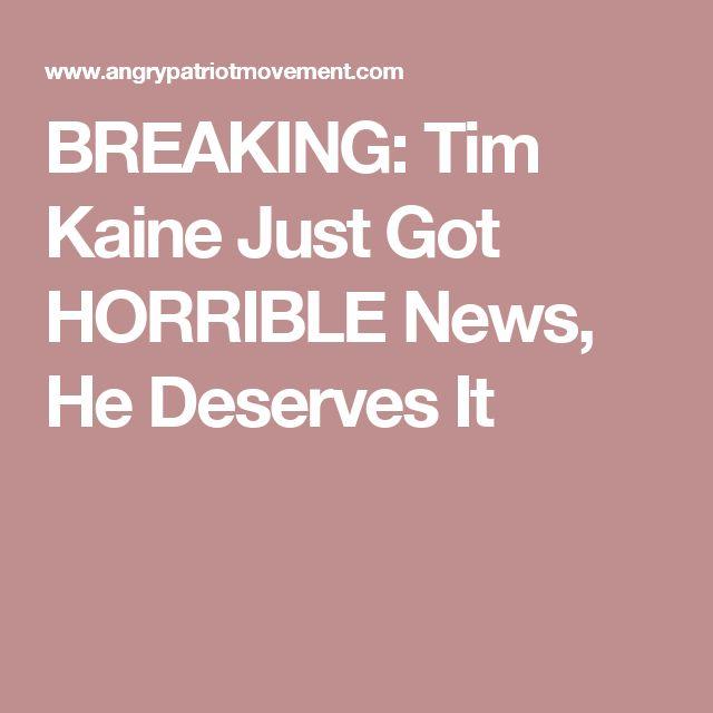 BREAKING: Tim Kaine Just Got HORRIBLE News, He Deserves It