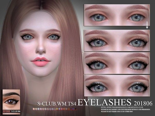 The Sims Resource Eyelashes 201806 By S Club Sims 4 Downloads The Sims Sims Sims 4