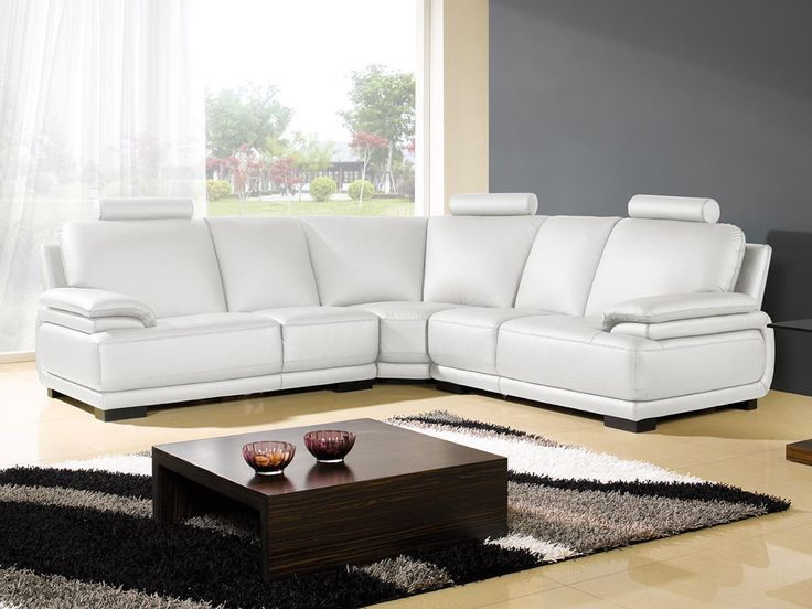 Canapé d'angle en cuir DARWIN Canapé design et mobilier de luxe