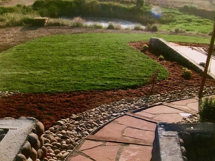 Attractive Landscape Solutions Inc #4: Landscape: Stone Pathway And New Sod