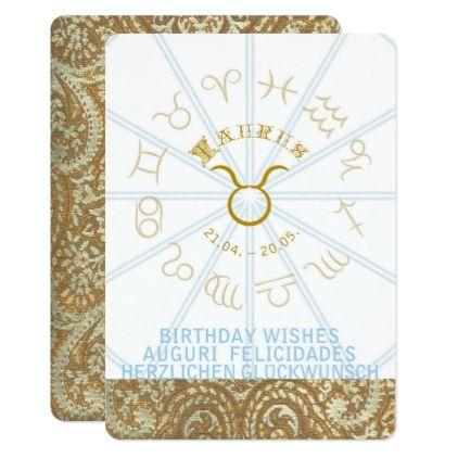 HOROSCOPE  Birthday Invite - Taurus - birthday invitations diy customize personalize card party gift