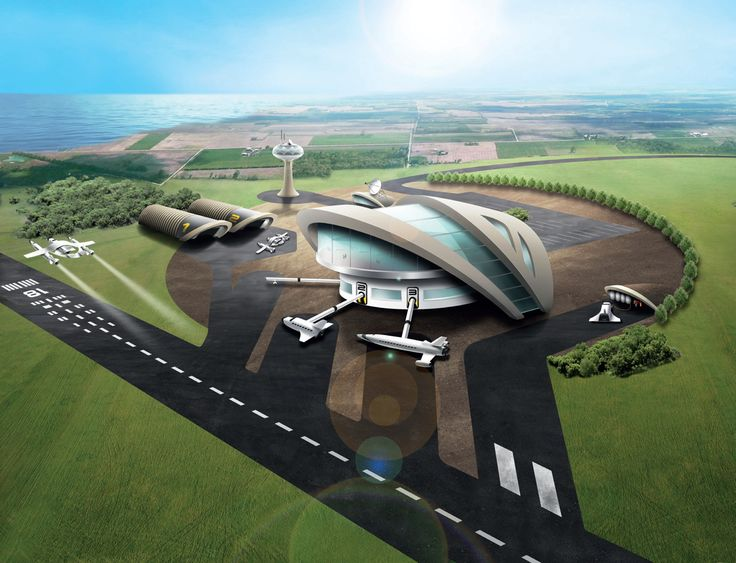 The concept art for the UK Spaceport expected to launch