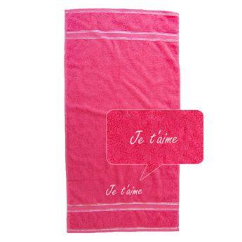 Que pensez-vous d'une serviette de plage personnalisée? Vous ne vous tromperez plus de place en sortant de l'eau ;)