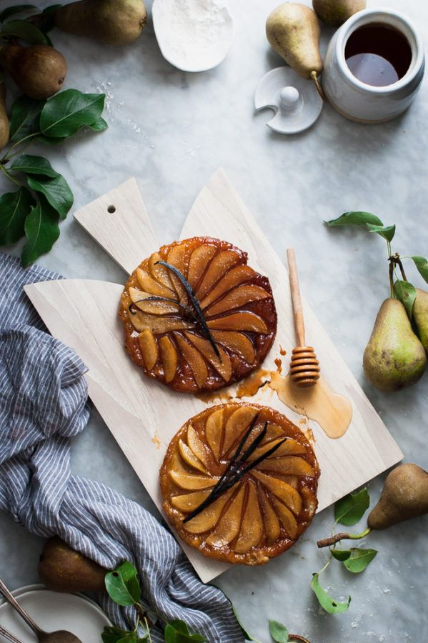 Salted Honey Vanilla Bean Pear Tarte Tatin - The Kitchen McCabe
