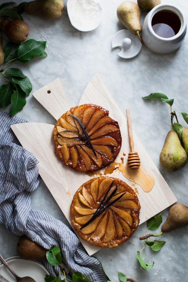 Salted Honey + Vanilla Bean Pear Tarte Tatin - The Kitchen McCabe