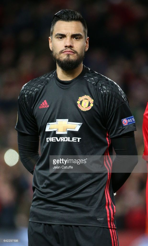 Sergio Romero of Manchester United looks on before the UEFA Europa League Round of 32 first leg match between Manchester United and AS Saint-Etienne (ASSE) at Old Trafford stadium on February 16, 2017 in Manchester, United Kingdom.