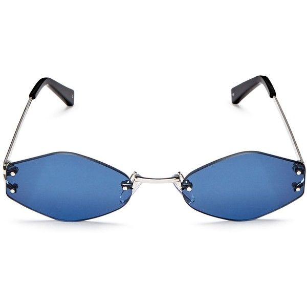 Kendall and Kylie Kye Rimless Oval Sunglasses, 51mm (5.015 RUB) ❤ liked on Polyvore featuring accessories, eyewear, sunglasses, rimless glasses, oval rimless glasses, rimless sunglasses, oval glasses and rimless eyewear