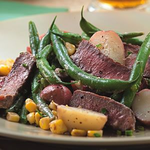 Made this for dinner tonight and loved it. Followed recipe as is and it perfect.  That sauce is key. -TZ   Steak & Potato Salad with Horseradish Dressing