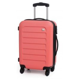 Groove-Max By IT Luggage Cabin Carry-On Hard Suitcase 4 Wheel Spinner Bag Coral