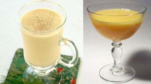 ponche de huevo  1l leche,400g  azucar 1 rama vainilla  9 yemas de huevo  1 vaso de alcohol blanco     Ponga en una cacerola la leche junto con el azucar y la vainilla.Deje hervir suave hasta que reduzca a la mitad.Aparte en un bol,tamice las yemas y batalas hasta que queden bien espumosas.Vierta a pocos leche hirviendo sobre las yemas ,mientras bate.Agrege al batido en este orden:el oporto,el coñac y el gin el licor empieza a espesarce.Cuelelo,embotellelo y respete el orden de las bebidas.