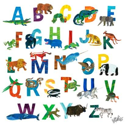 """Kids Room - Wall Art,The World of Eric Carle A-Z- 21x21"""""""