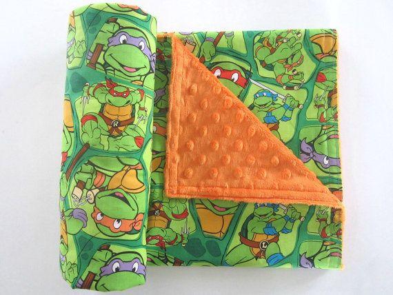 Handmade by Sarita Baby, Teenage Mutant Ninja Turtles Blanket #etsy