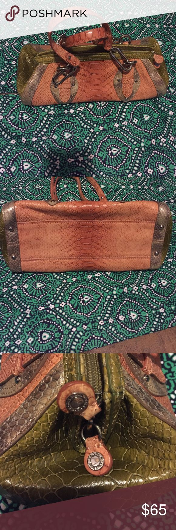 Cole Haan Purse This great little nurse style purse is in great condition never used with snake emobosses print Cole Haan Bags Shoulder Bags
