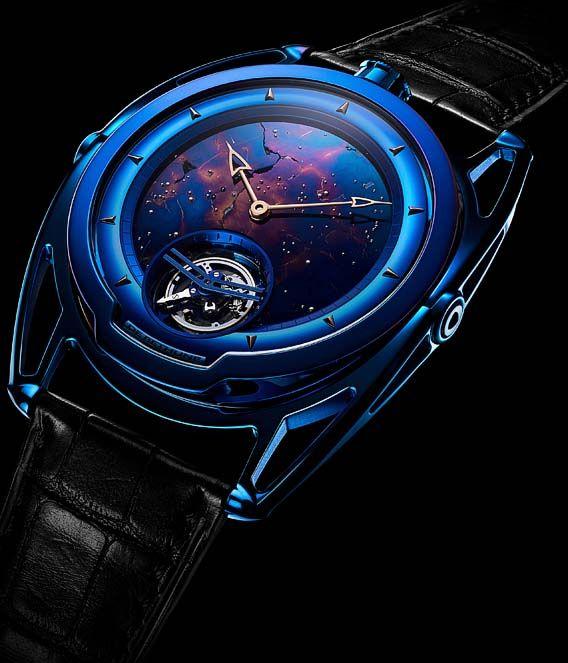 La Cote des Montres : La montre De Bethune DB28 Kind of Blue Tourbillon Météorite - Un petit morceau d'univers