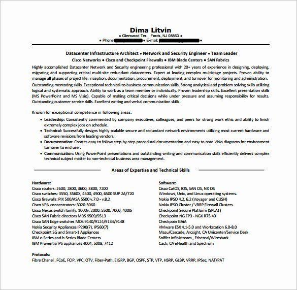 25 Cisco Network Engineer Resume In 2020 Engineering Resume Templates Resume Template