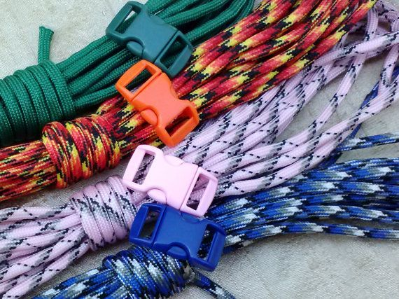 New  Paracord Bracelet Kit with Buckles  4 Colors by SkullMoto, $5.00