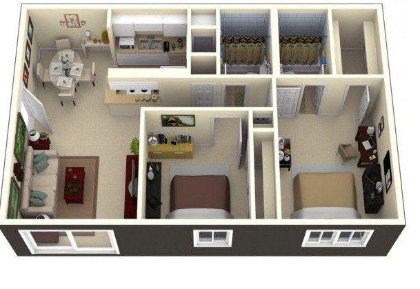 Casas De 72 Metros Cuadrados Apartamentos Pequeños En 2019 House