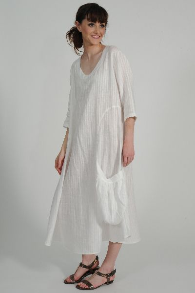 Andrizes linen dress, Identity leather sandal