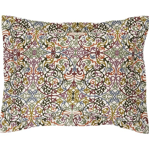 Lucia Standard Pillow Sham Pillow Shams, Crate And Barrel and Pillows