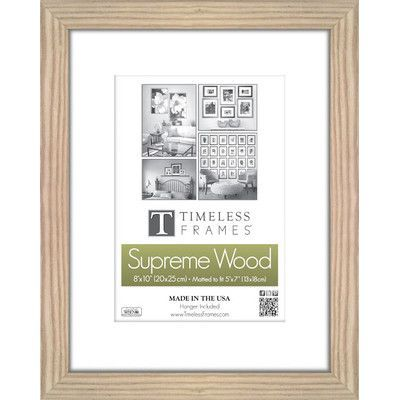 """Charlton Home Barile Wall Picture Frame Size: 11"""" x 17"""", Color: Natural"""