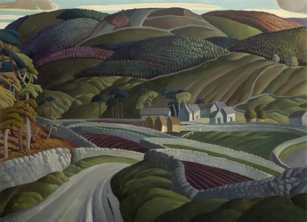A Derbyshire Farmstead  by Harry Epworth Allen (1894-1958)