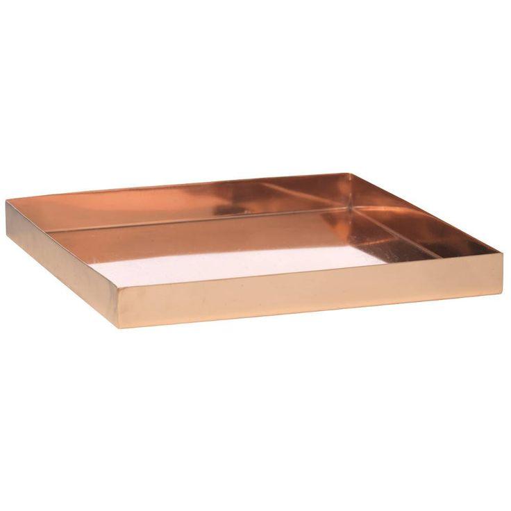 quadratisch jetzt das deko tablett in kupfer von madam stoltz bei stilherz entdecken und. Black Bedroom Furniture Sets. Home Design Ideas