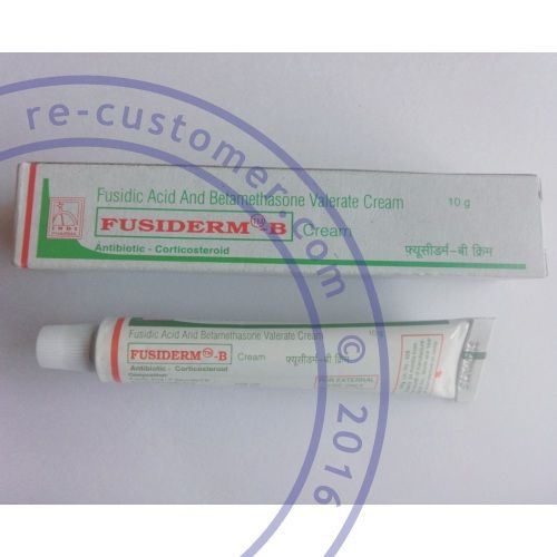 Generic Fusiderm B $9.99 per tube. Active ingredient: Betamethasone + Fusidic Acid Category: Anti-inflammatories, Antibiotics, Skin Care	 Fusiderm B cream is indicated for the treatment of eczematous dermatoses including atopic eczema, infantile eczema, stasis eczema, contact eczema and seborrhoeic eczema when secondary bacterial infection is confirmed or suspected. Brand(s): Fusiderm B Manufacturer: Indi Pharma Disease(s): Eczema