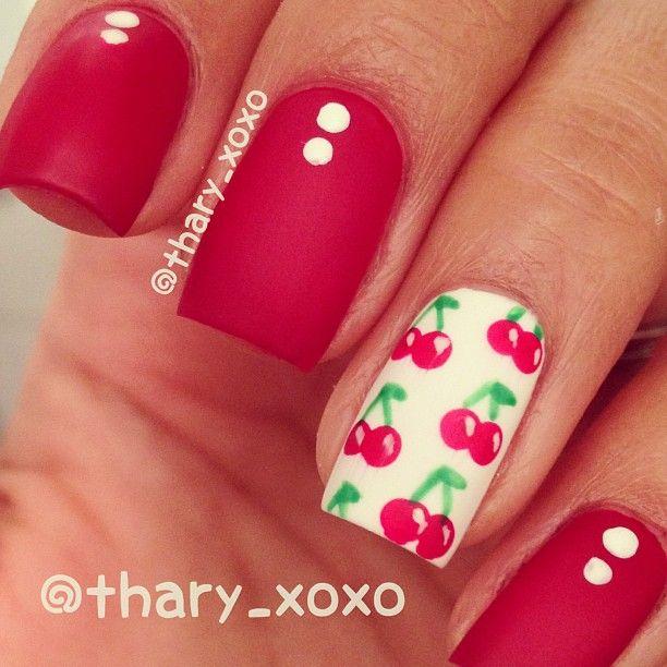 thary_xoxo cherry #nail #nails #nailart