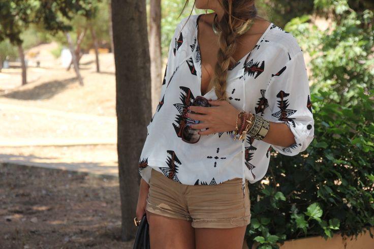 like a lot: Fashion, Inspiration, Spring Summer, Outfit, Tribalprints, Styles, Closet, Tribal Prints, Shirt