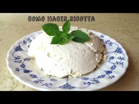 COMO HACER Requesón o Ricota ( ricotta) FACIL. - YouTube