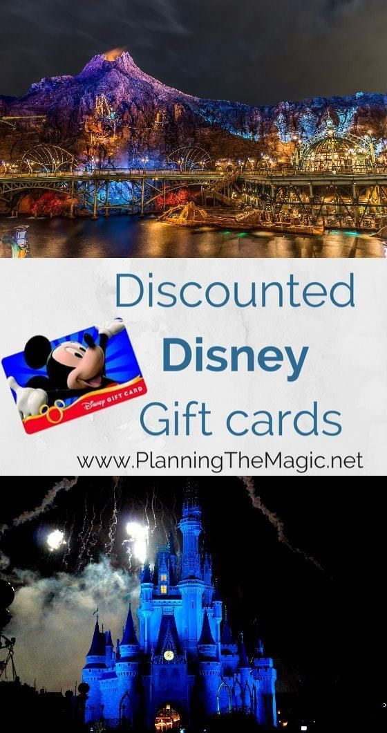 Discounted Disney Gift Cards   The average Disney vacation costs over $4000 but with these tricks to get discounted Disney gift cards you will be on your way to success. Find more information at www.planningthemagic.net