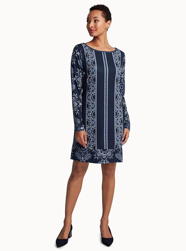 La robe droite mosaïque | Contemporaine | Magasinez des Robes de bureau | Simons