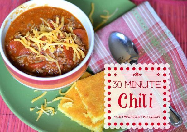 Easy 30 Minute Chili Recipe