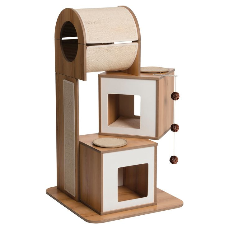 I Like The Blend Of Modern Design With The U0027cuteu0027 Factor. My Cats Would  Have A Ball In This One! // Cat Tree ...