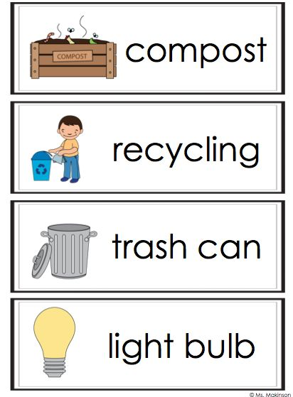 FREEBIE - Earth Day Word Wall Vocabulary Cards