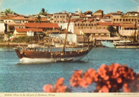 Arabian Dhow in the Old Port of Mombasa, 1970s
