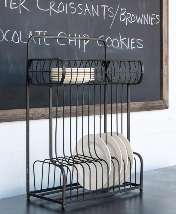 Vintage Farmhouse Style Dish Display Shelf ~Storage Rack~Plate Rack