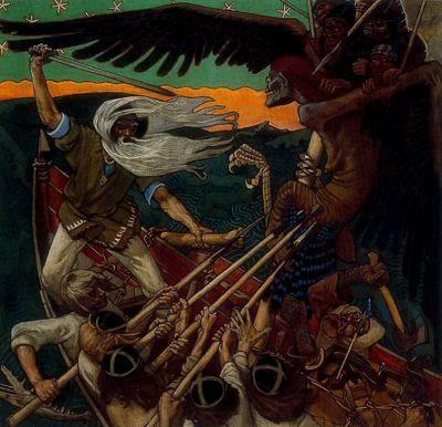 Aksel Gallen-Kallela. The Defence of Sampo.