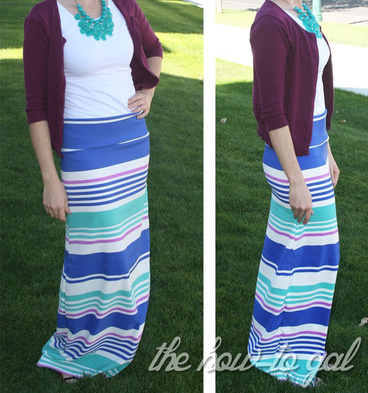 The How-To Gal: Fabric Stash: Easy Maxi Skirt #DIY #MakeYourOwn