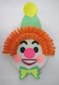 Clown Aus Pappteller Basteln Dekoking Com 4 Fasching Clown