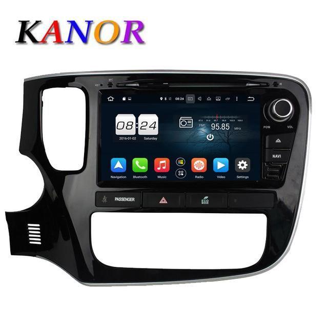 KANOR 2G+32G Octa Core Android 6.0 Car DVD Player For Mitsubishi Outlander 2013 2014 2015 Headunit GPS Navigation Car Stereo
