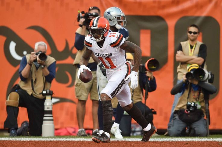 Cowboys vs. Browns:  35-10, Cowboys  -  November 6, 2016  -   Cleveland Browns wide receiver Terrelle Pryor (11) runs the end zone after scoring a touchdown in the first half of an NFL football game against  the Dallas Cowboys, Sunday, Nov. 6, 2016, in Cleveland. (Credit: AP / David Richard)