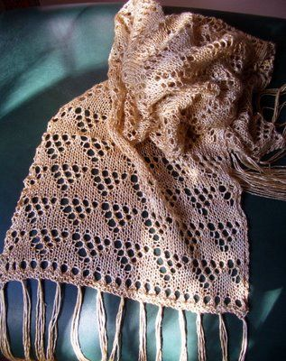 Three Sisters Scarves One ⋆ Knitting Bee