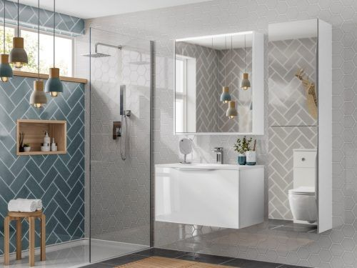 Show off your sleek new bathroom with on trend tiles