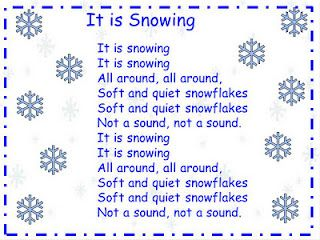 It is Snowing song, want to use songs for shared reading