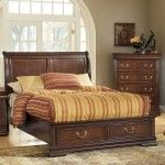 Acme Furniture - Hennessy Brown Cherry Eastern King Bed with Storage - 19447EK   SPECIAL PRICE: $945.70