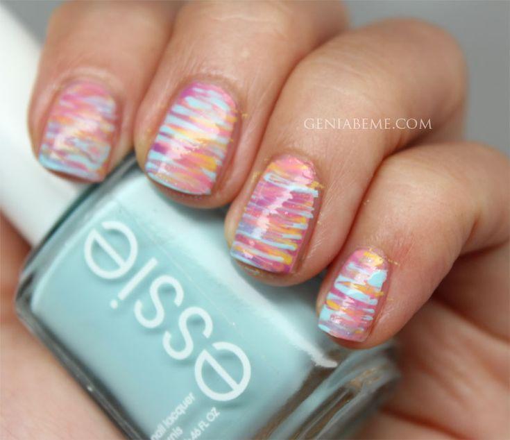 Easter Nails - colorful nails - rainbow - pastel - spring nails - summer nails - nail art - nail designs - stripes